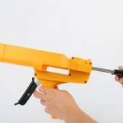 美缝剂工具通用型助力枪批发省力双管液压胶枪双组份塑料胶枪定制