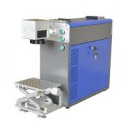 镭射流水线同步检测全自动激光打标机 小型在线飞行光纤激光打码